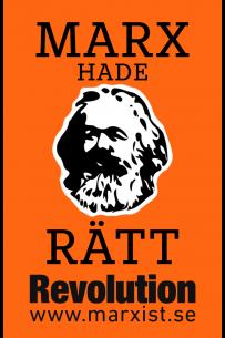 Klistermärke: Marx hade rätt