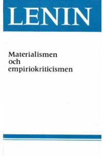 Materialismen och empiriokriticismen