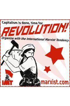 Klistermärke: Capitalism is done, time for revolution!