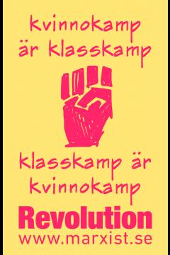 Klistermärke: Kvinnokamp är klasskamp!