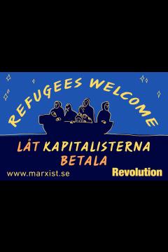 Klistermärke: Refugees Welcome